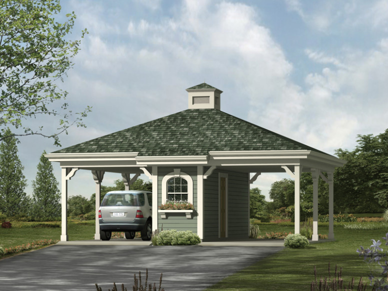 Gloria 2 Car Carport Plan 009D 6016 | House Plans And More Carport Ideas With Storage