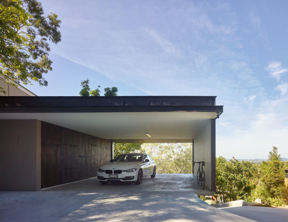Gorgeous Use Of Wood Takes This Mansion To The Next Level Modern Home With Carport