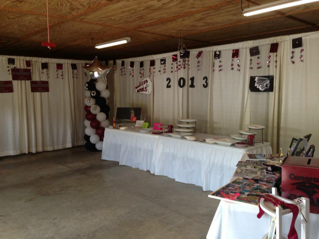 Graduation Party. Curtain Draping In Garage | Graduation ..
