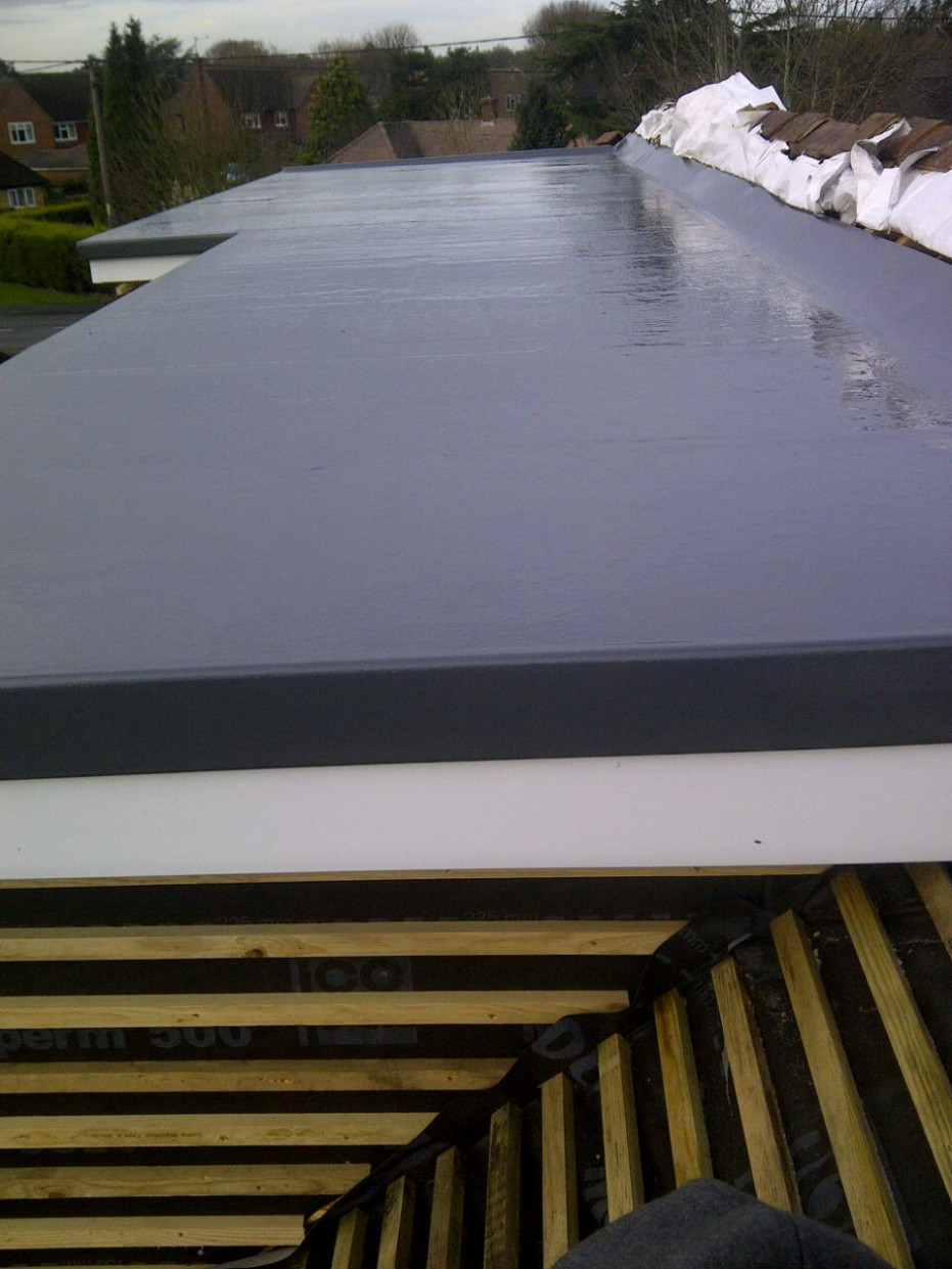 GRP Flat Roof Finished In Graphite Grey. | How To... In 12 ..