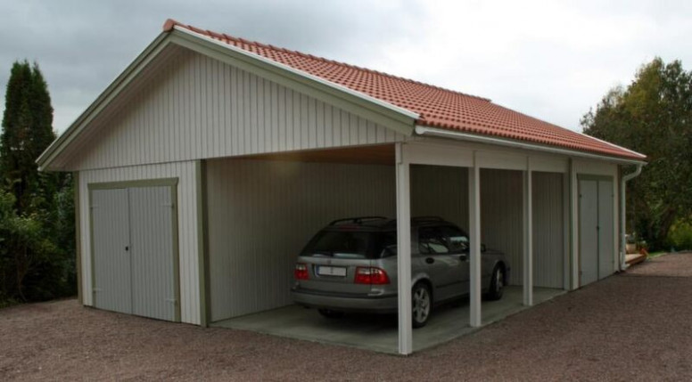 Göra Garage Av Carport