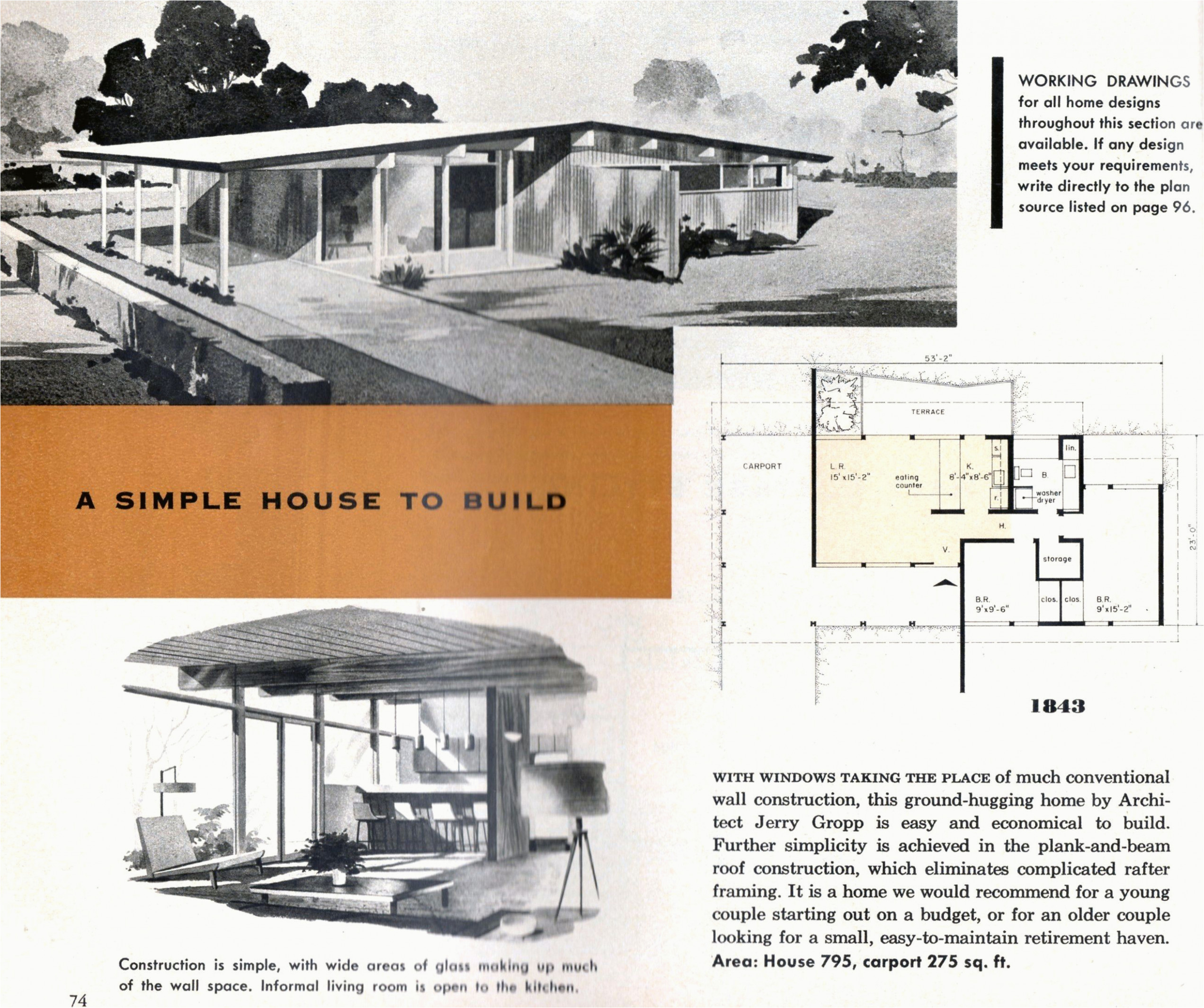 Home Plans For Mid Century Modern 13 Awesome Mid Century ..