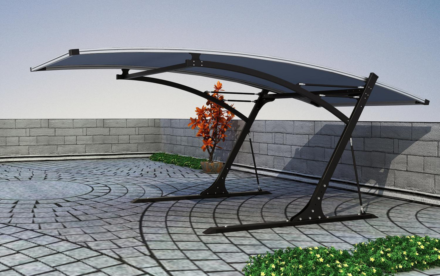 [Hot Item] Modern Flat Roof Polycarbonate Carports Images Of Flat Roof Carports