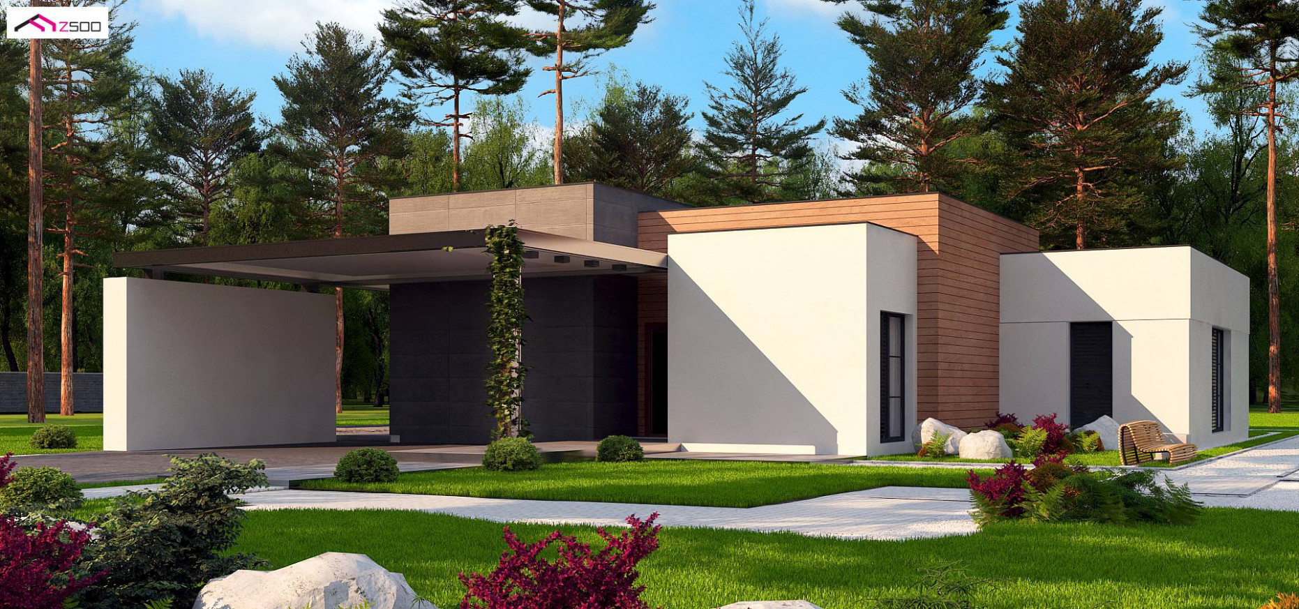 House Design Zx9 A Modern One Storey House With A Carport ..