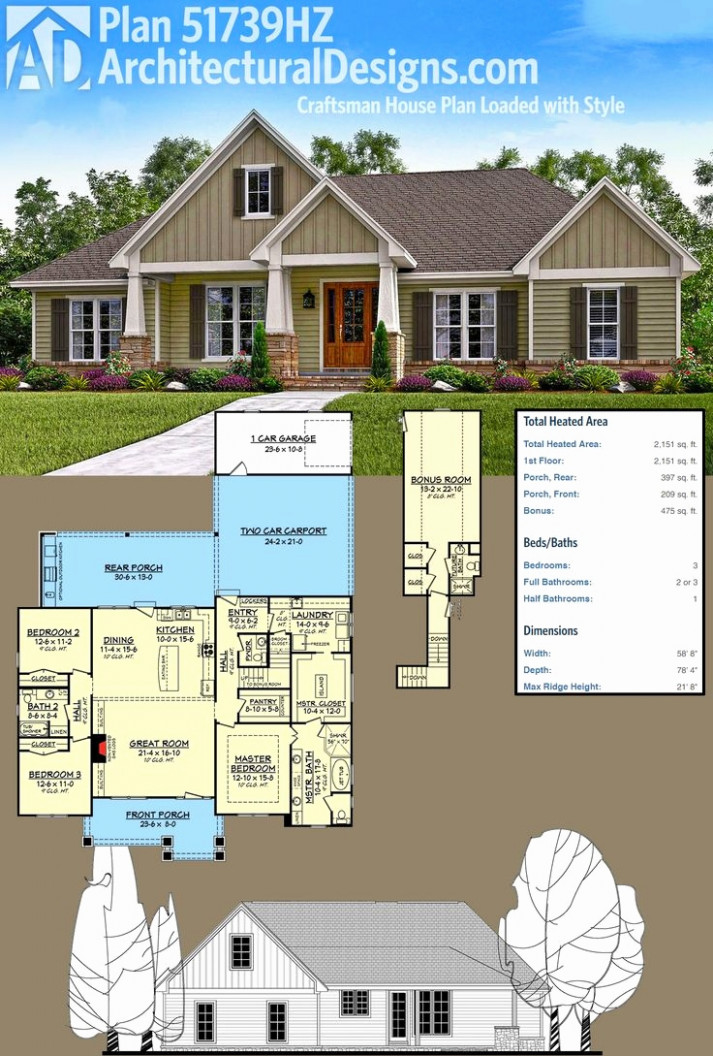 House Plans With Carport And Garage New House Plans Carport ..