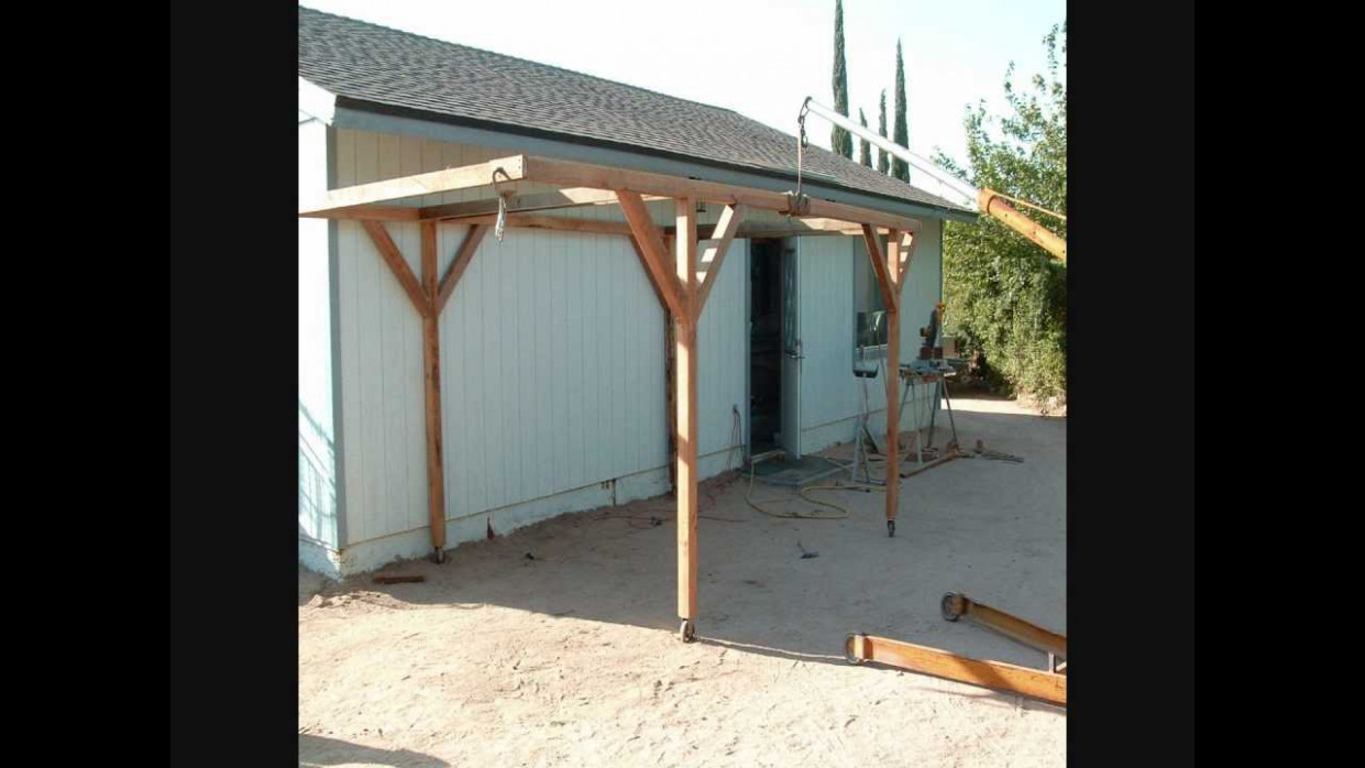 How I Built A Rolling Carport For Little Money Carport Roof Overhang