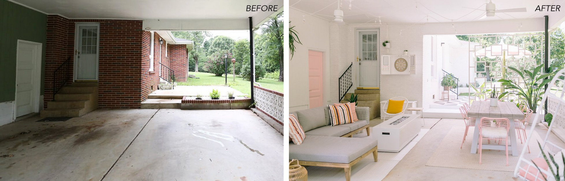 How I Turned My Carport Into An Outdoor Porch (Before + ...