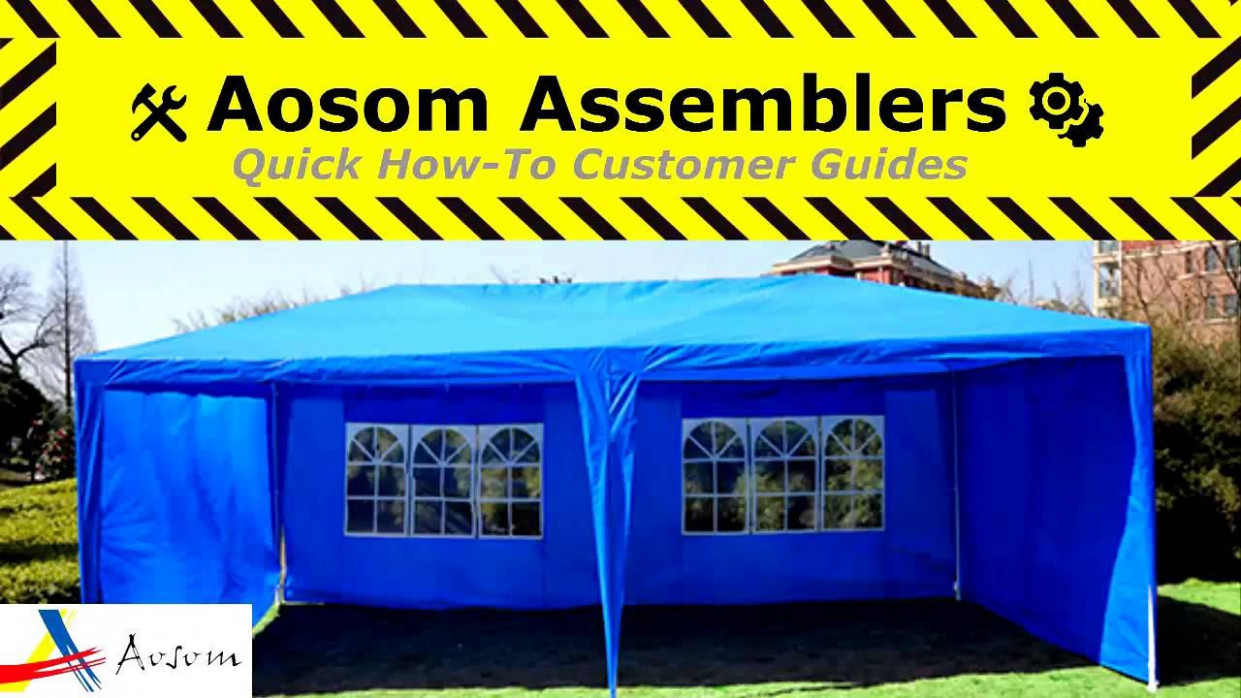 How To Assemble The Outsunny 9 X 9 Gazebo Canopy Tent: Aosom Assemblers Series Carport Canopy Youtube