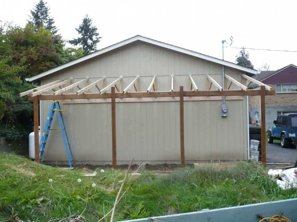 How To Build A Carport Attached To House Oh No Blue Tarp ..