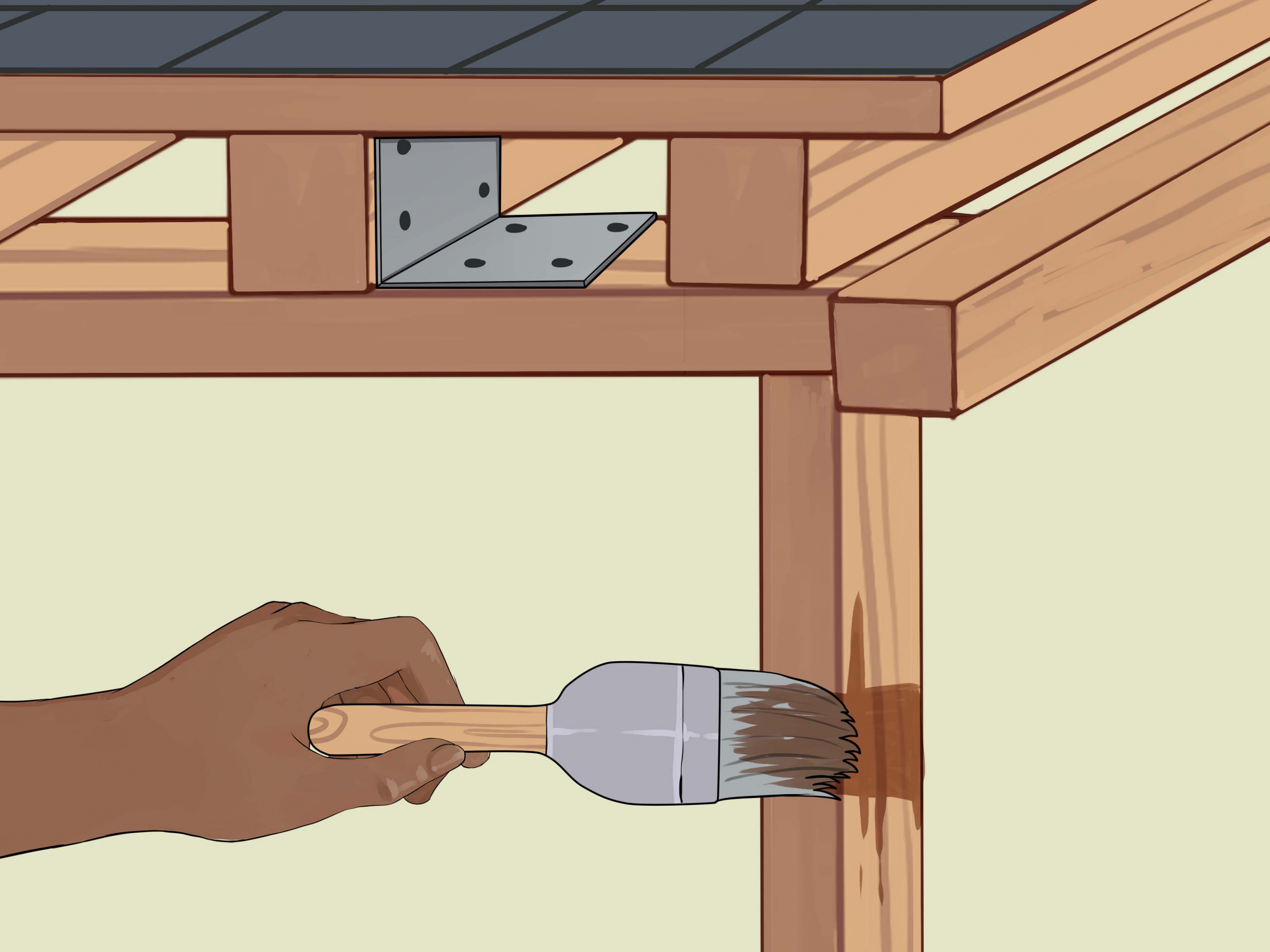 How To Build A Carport (with Pictures) WikiHow Prefab Wooden Carport Kits