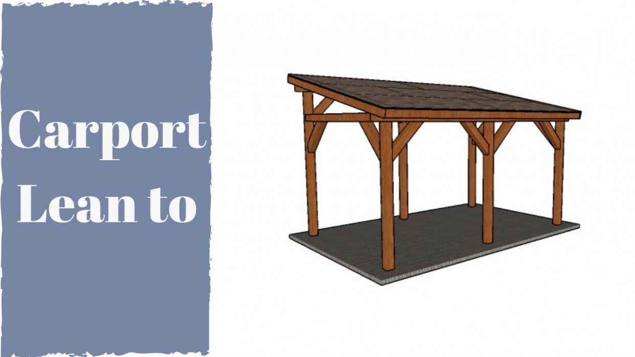 How To Build A Carport YouTube Wooden Carport Lean To