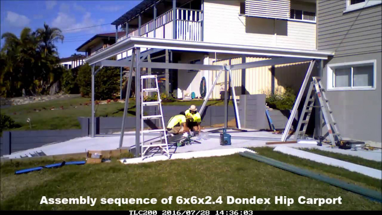 How To Build A Dondex Hip Roofed Carport 7x7x7