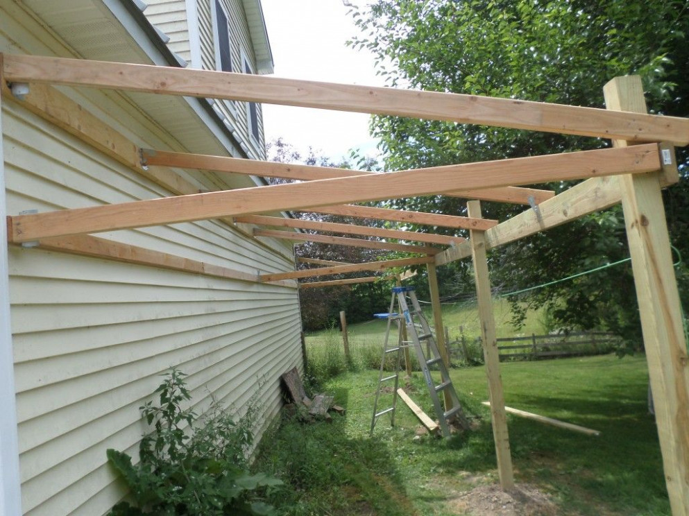 How To Build A Lean To Shed: 10 Steps (with Pictures) Attaching Carport Roof To House