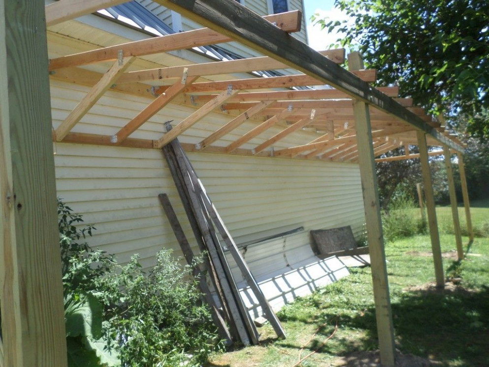 How To Build A Lean To Shed: 12 Steps (with Pictures) Lean To Carport Attached To Garage