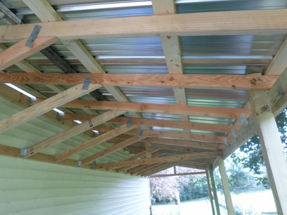 How To Build A Lean To Shed: 13 Steps (with Pictures) Removable Carport Roof
