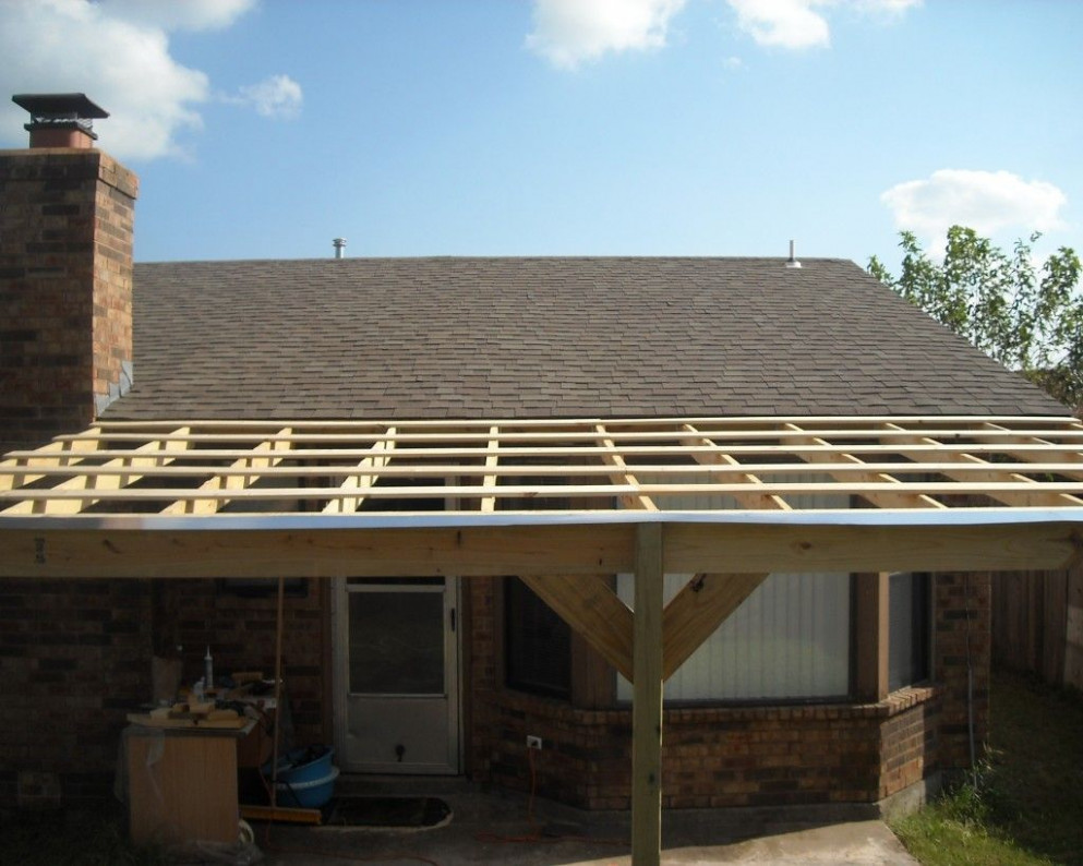 How To Build A Patio Cover With A Corrugated Metal Roof ..