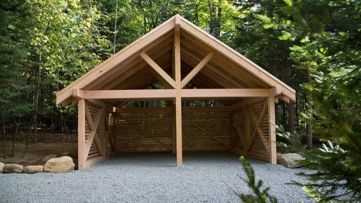 How To Build A Real Cedar Carport In A Weekend Wooden Attached Carport