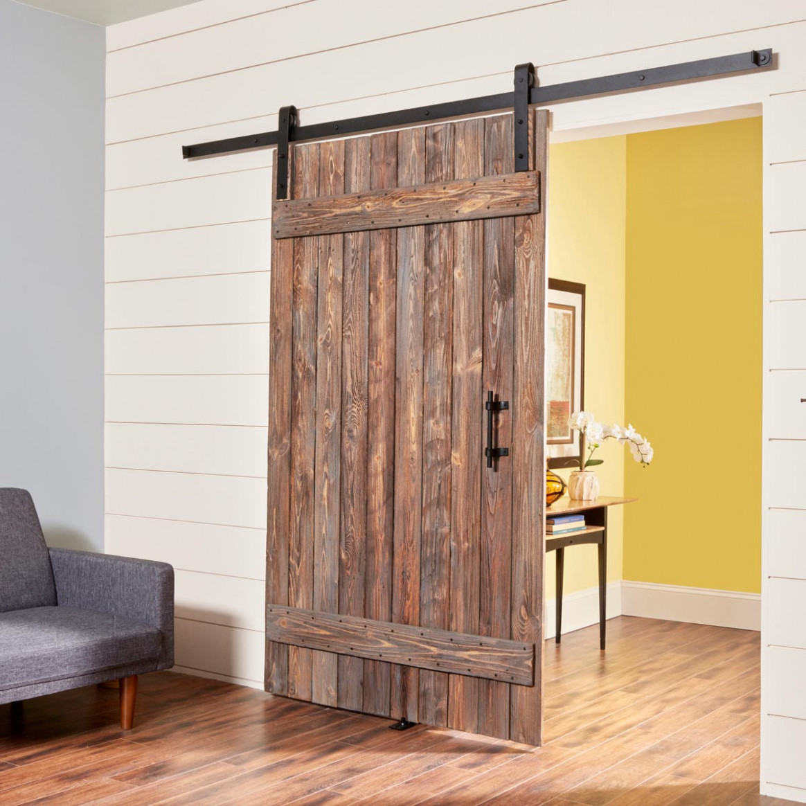 How To Build A Simple Rustic Barn Door — The Family Handyman Rustic Wooden Carports