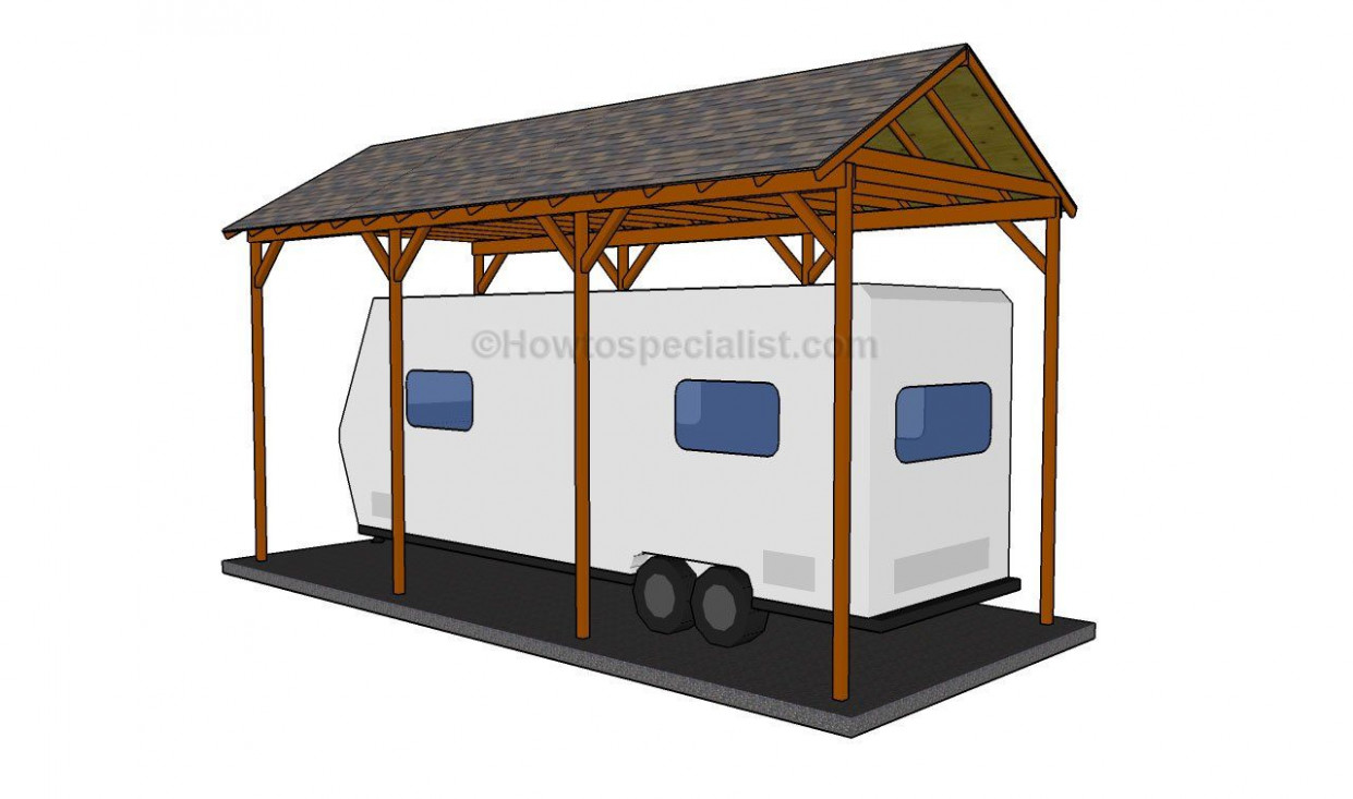 How To Build A Wooden Carport | Rv Remodel | Wooden Carports ..