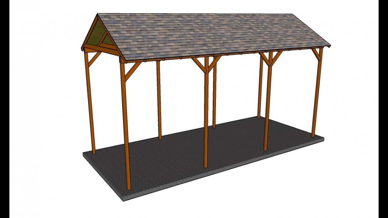 How To Build A Wooden Carport YouTube Carport Roof Youtube