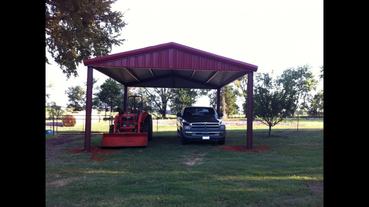 How To Build An All Metal Carport ~ From Start To Finish Carport Plans Gable Roof Free