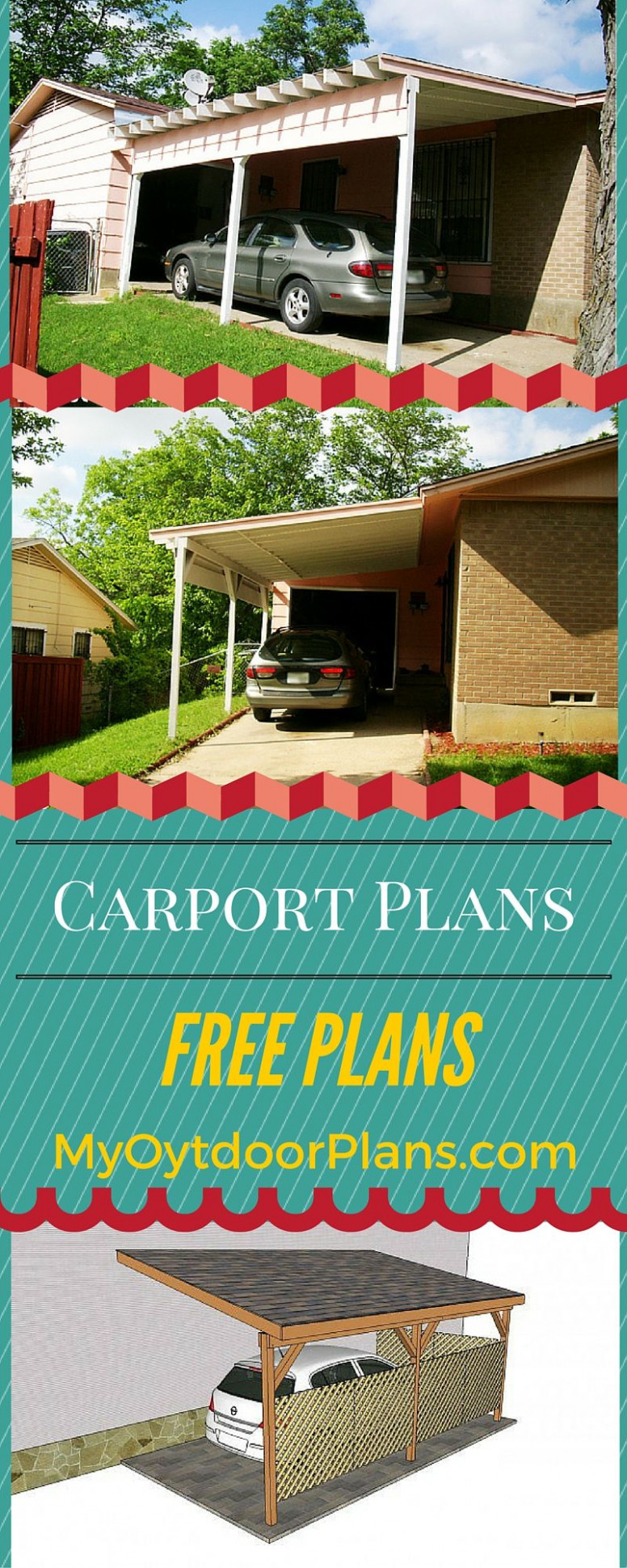 How To Build An Attached Carport! Free Plans And Easy To ..