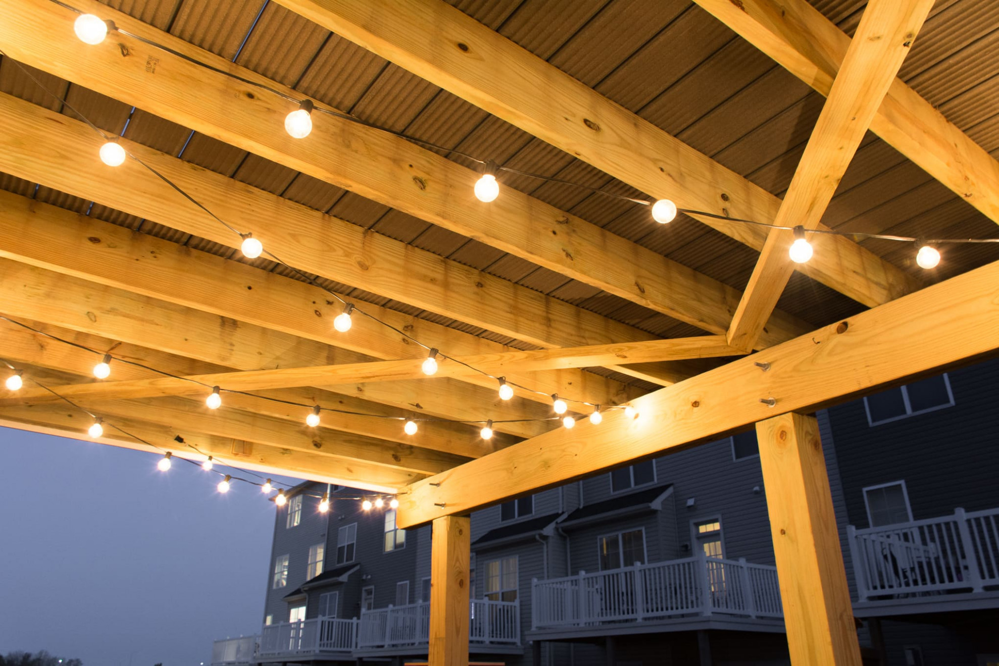 How To Hang Globe String Lights Under A Deck: Hang Patio ..