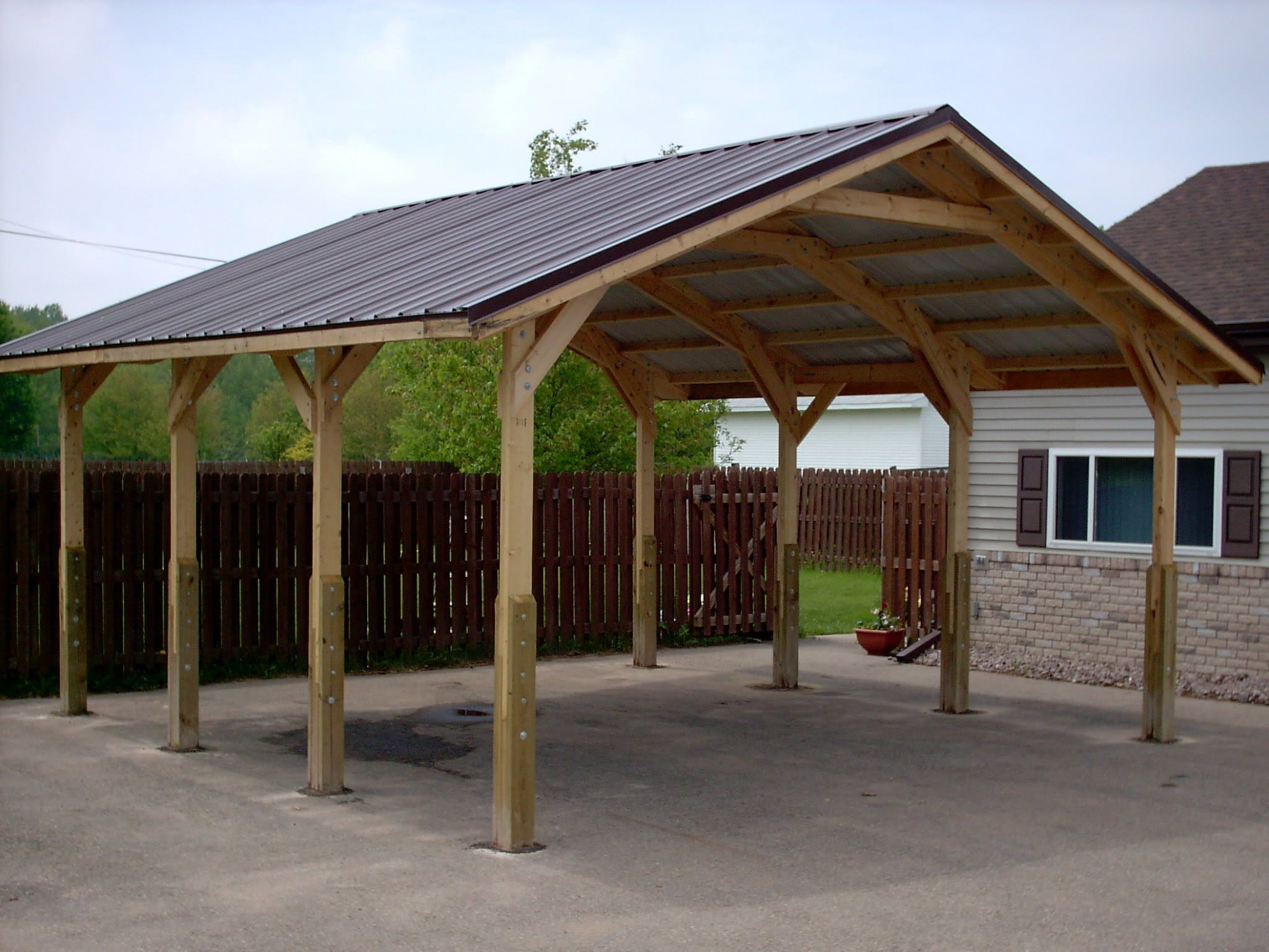 I Much Prefer This Shape For A Carport To The Traditional ..