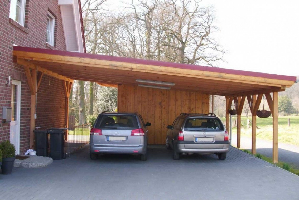 Ideas Laminated Wood Carport Are Two Cars In Gray. Carport ..