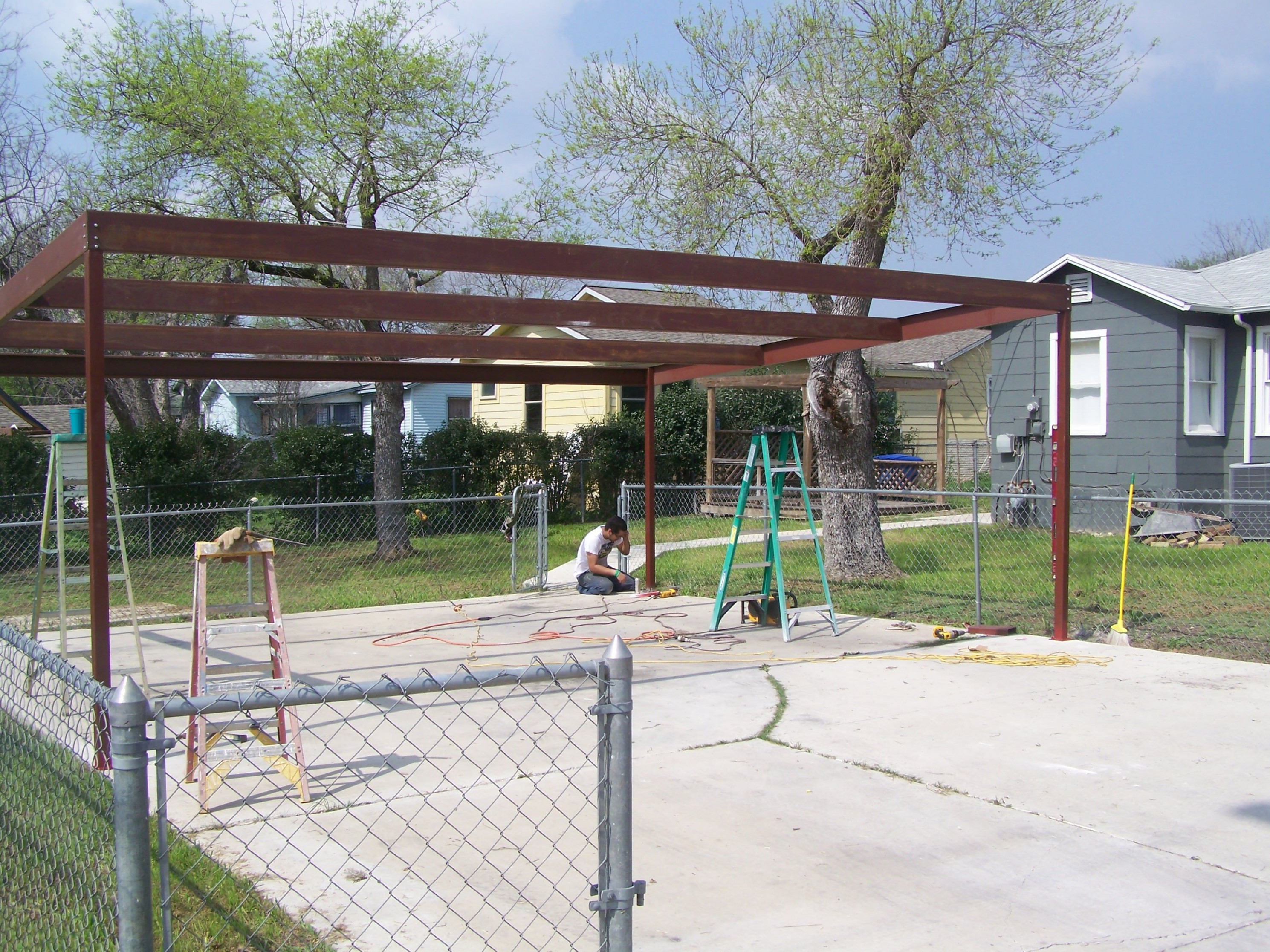 Ideas: Metal Carports Kits To Protect The Car From The Sun ..