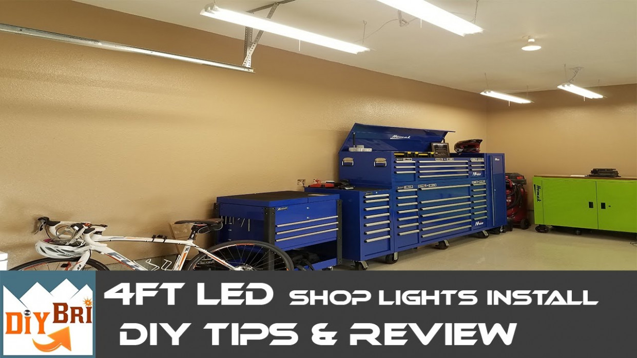Installing Led Shop Light | Easy How To Instructions | 9FT LED Shop Lights Metal Carport Lighting Ideas