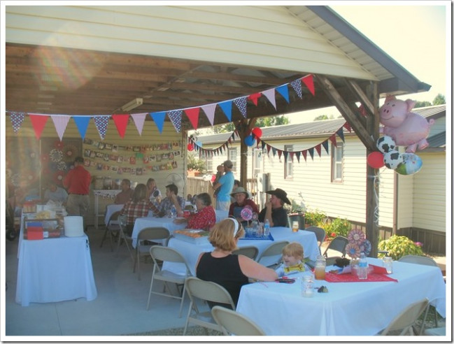 It's A Horvath's Life: A Rootin' Tootin' 1st Birthday Party Decorating Carport For Party