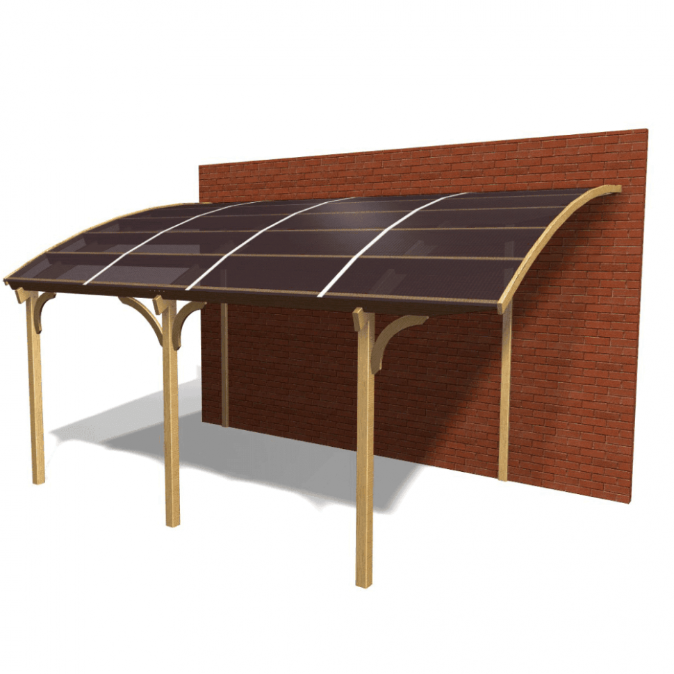 Jagram Ludlow Lean To Carport With PVC Roof Carport Images Uk