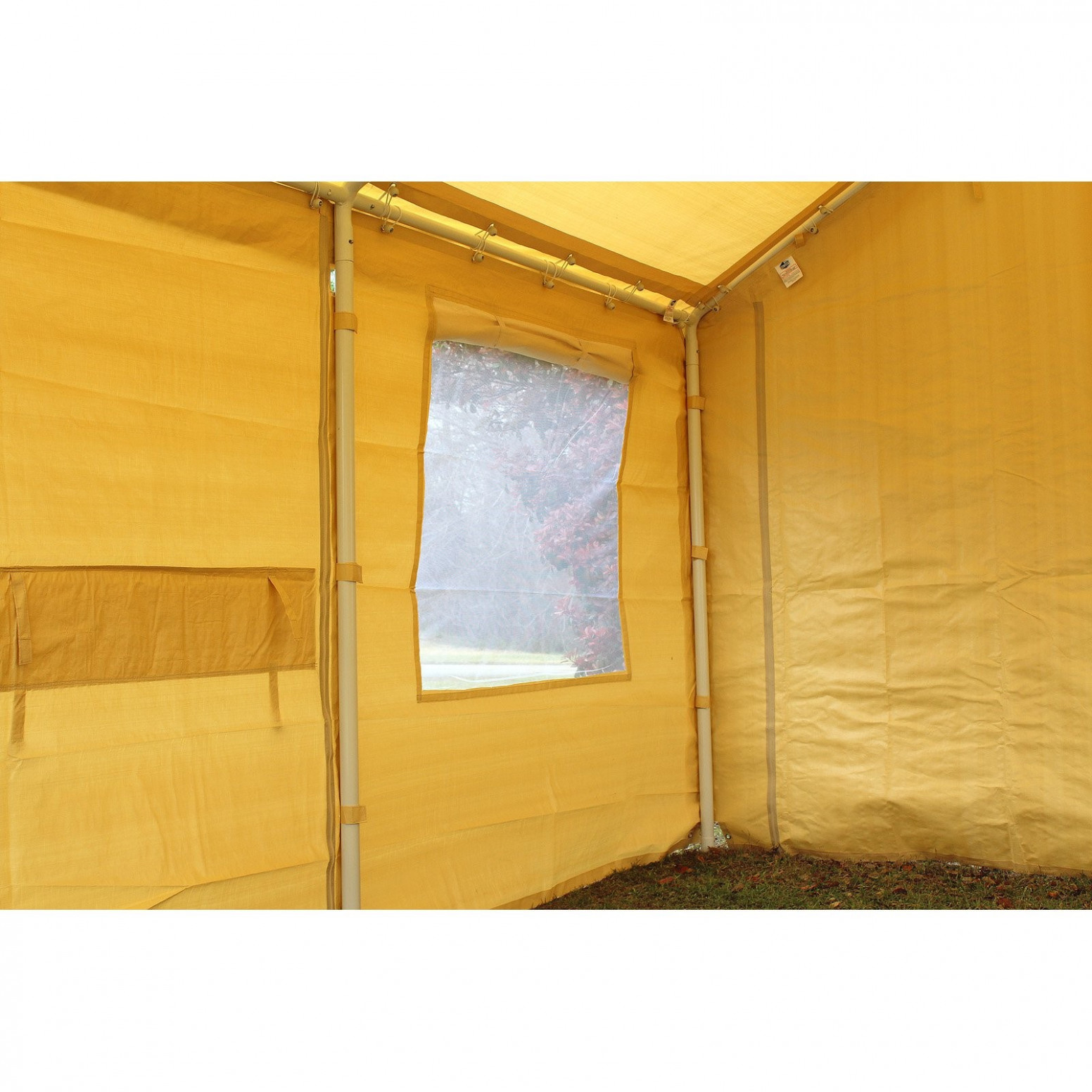 King Canopy Tan A Frame Enclosed Carport With Awning 7 X ..