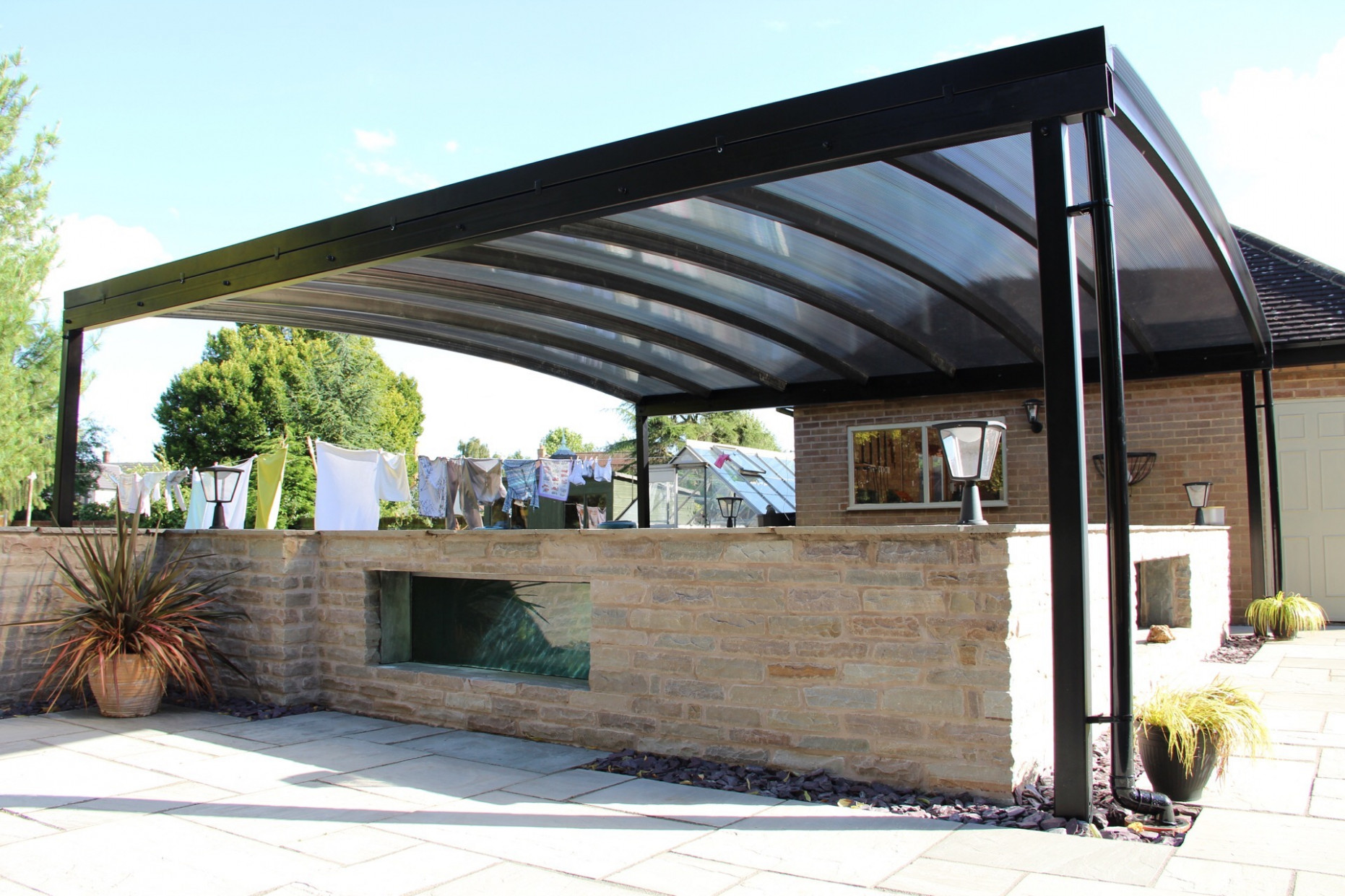 Koi Pond Canopy Installed in Derbyshire | Kappion Carports ...