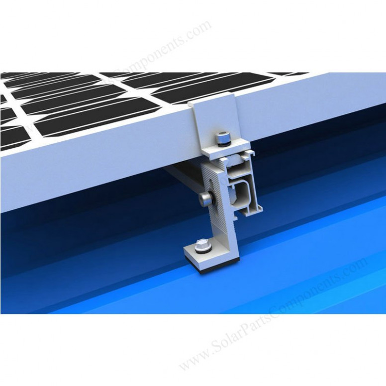 L feet clamp Solar Mounting Systems for metal, zinc, tin ...