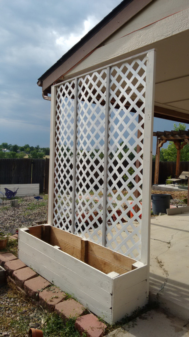 Lattice Privacy Screen Planter | LiveSimplyandFully Screening Ideas For Carports