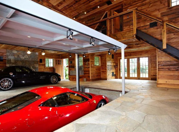 Luxury Home Garage With Car Elevator In Connecticut ..