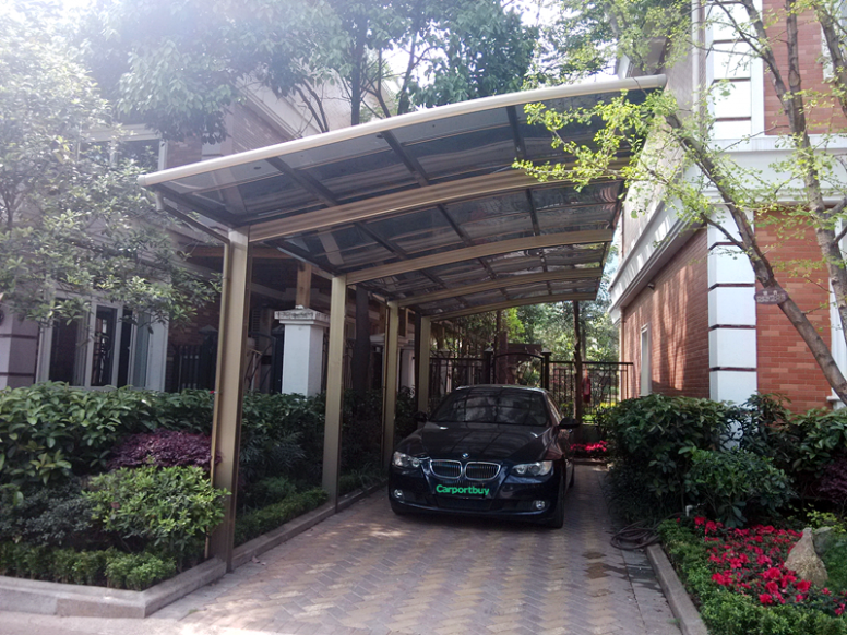 Luxury Single Car Carport For Sale, Aluminum Alloy Frame ..