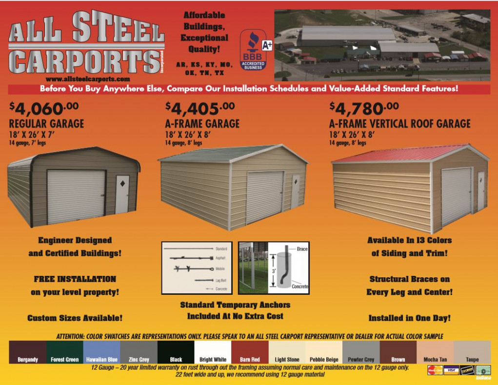 M&D Enterprises Carport Pricing Updated Pricing As Of May ..