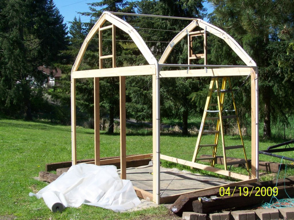 Make A Greenhouse From An Old Carport: 13 Steps (with Pictures) Wooden Gazebo Carport