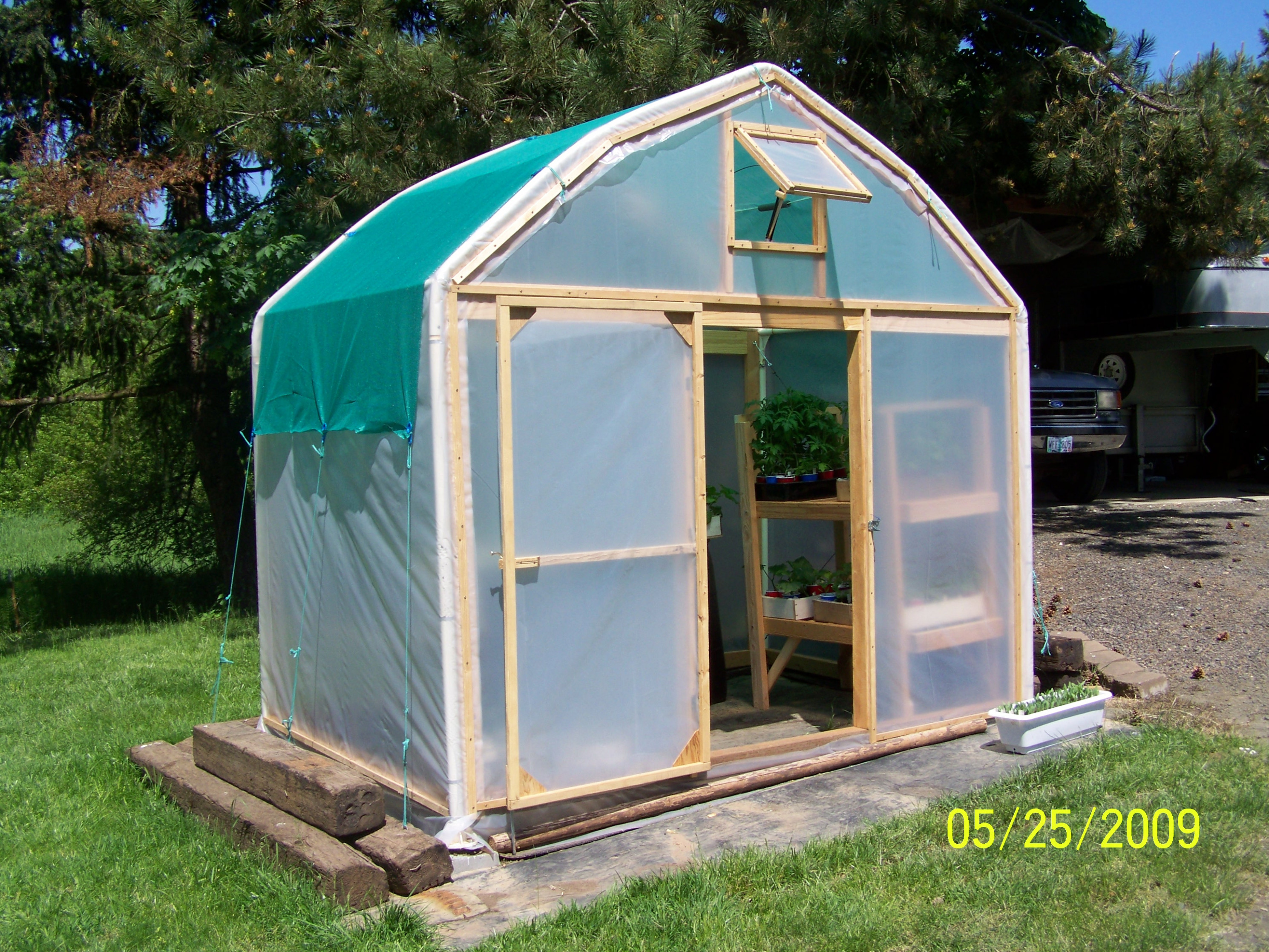 Make A Greenhouse From An Old Carport: 9 Steps (with Pictures) Carport Into Garage