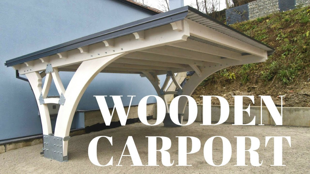 Making Of Glulam Carport Wooden Carport Pics