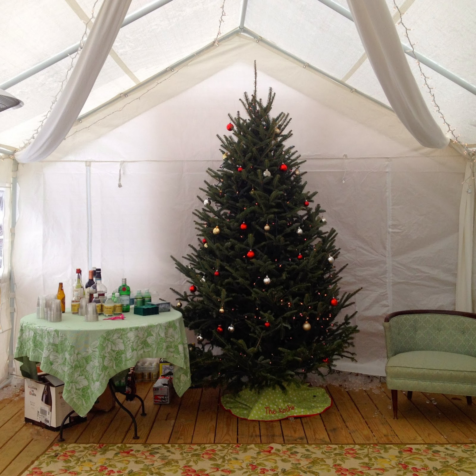 Mel & Liza: Christmas Party Tent: Adding An Extra Room To ..