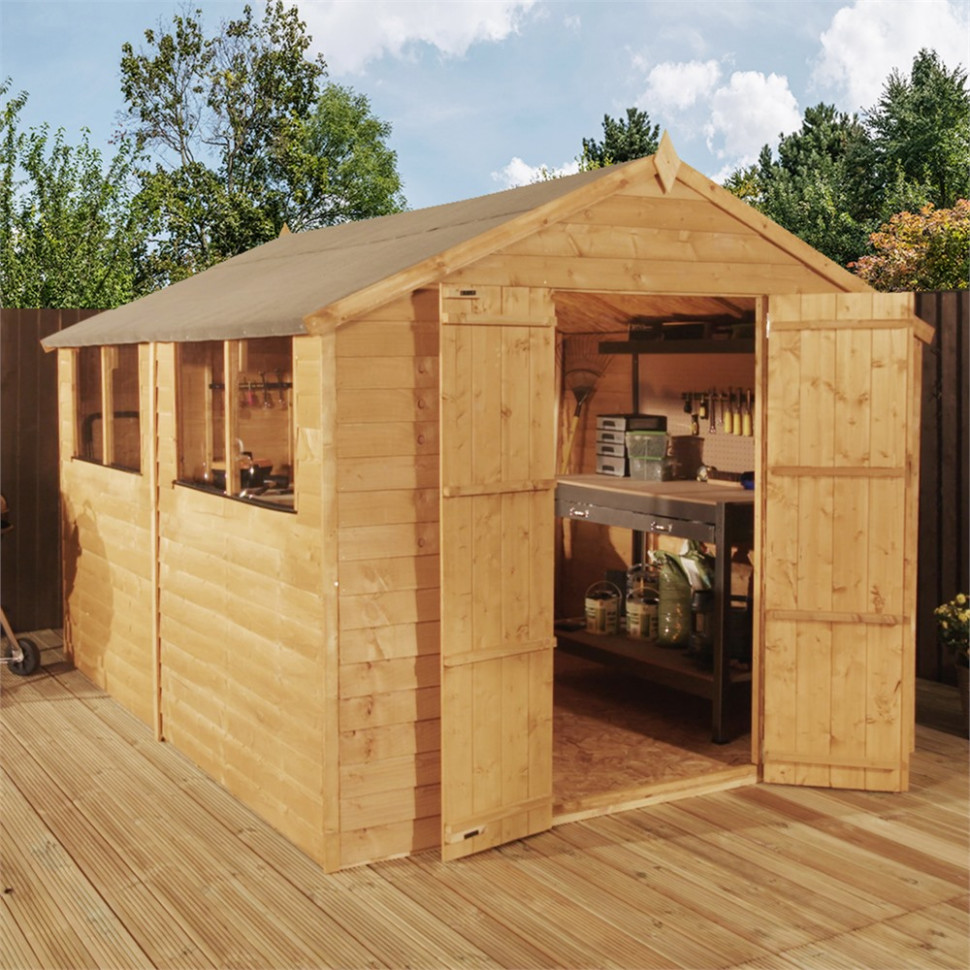 Mercia 8x10ft Overlap Traditional Apex Wooden Shed ..