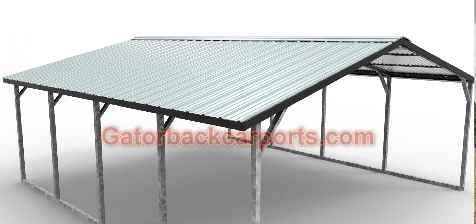 Metal Carport 18X21 ALL STEEL Steel Car Cover INSTALLED ..
