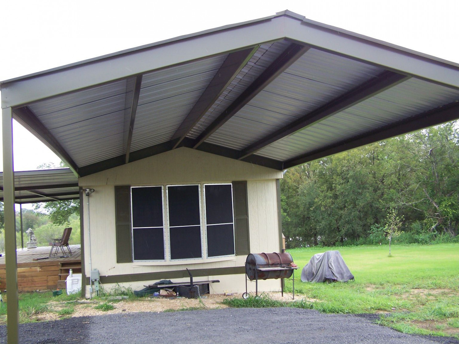 Metal Carport By Mobile Home Images | Mobile Home Metal Roof ..