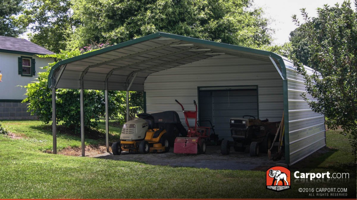 Metal Carport With Storage Shed Building Carport With ..
