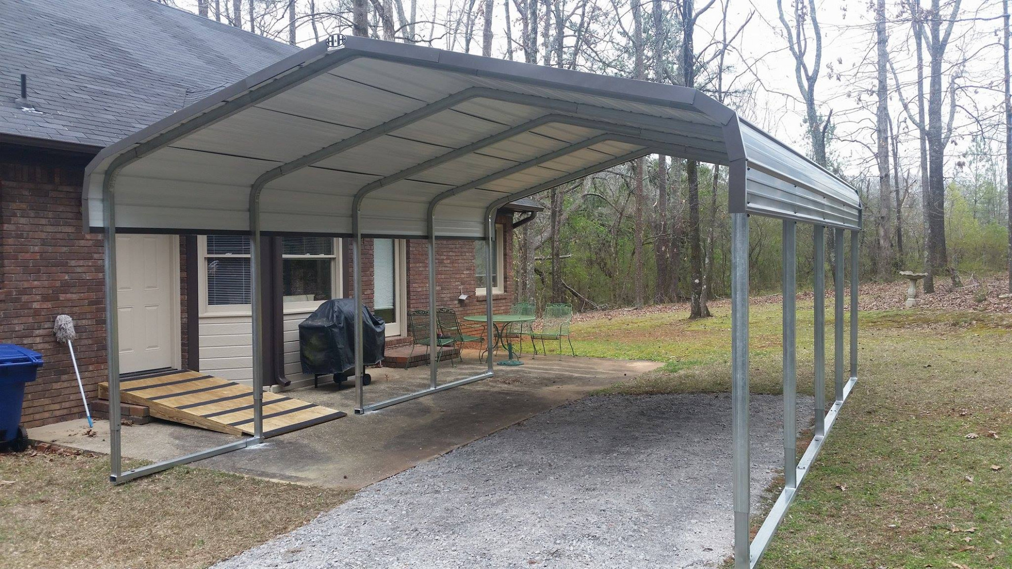 Metal Carport With Storage Steel Carports Boat Storage Cover ..