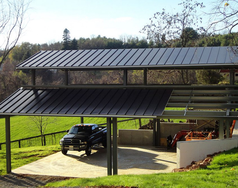 Metal Carports   Covered Parking   Roof Only Buildings Carport With Roof Storage